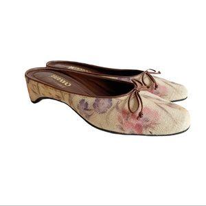 Bravo Browns Mule Slides Sandals Floral 10